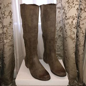 Mia Piperr Tall Riding Boots Taupe Sz11